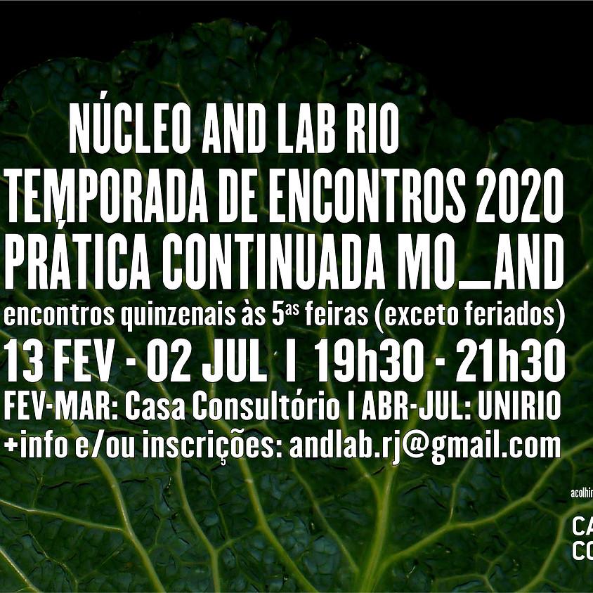 Temporada de Encontros Núcleo AND Lab Rio 2020