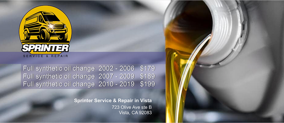 sprinter van oil transmission fluid change