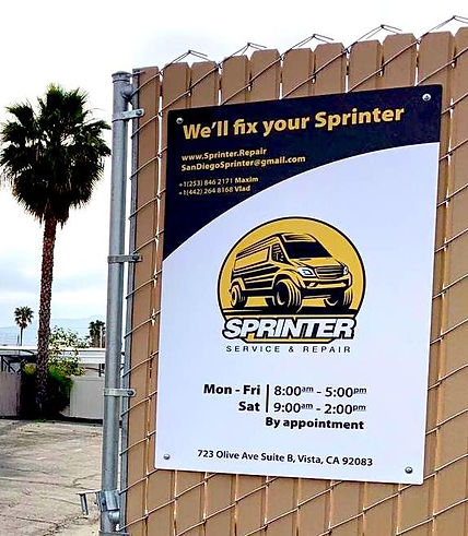 Sprinter service repair vista CA time open