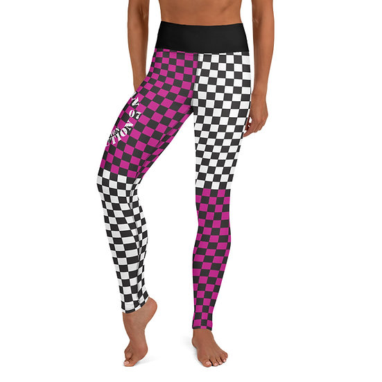 Retro AR White/Black & Pink/Black Checkerboard Yoga Leggings