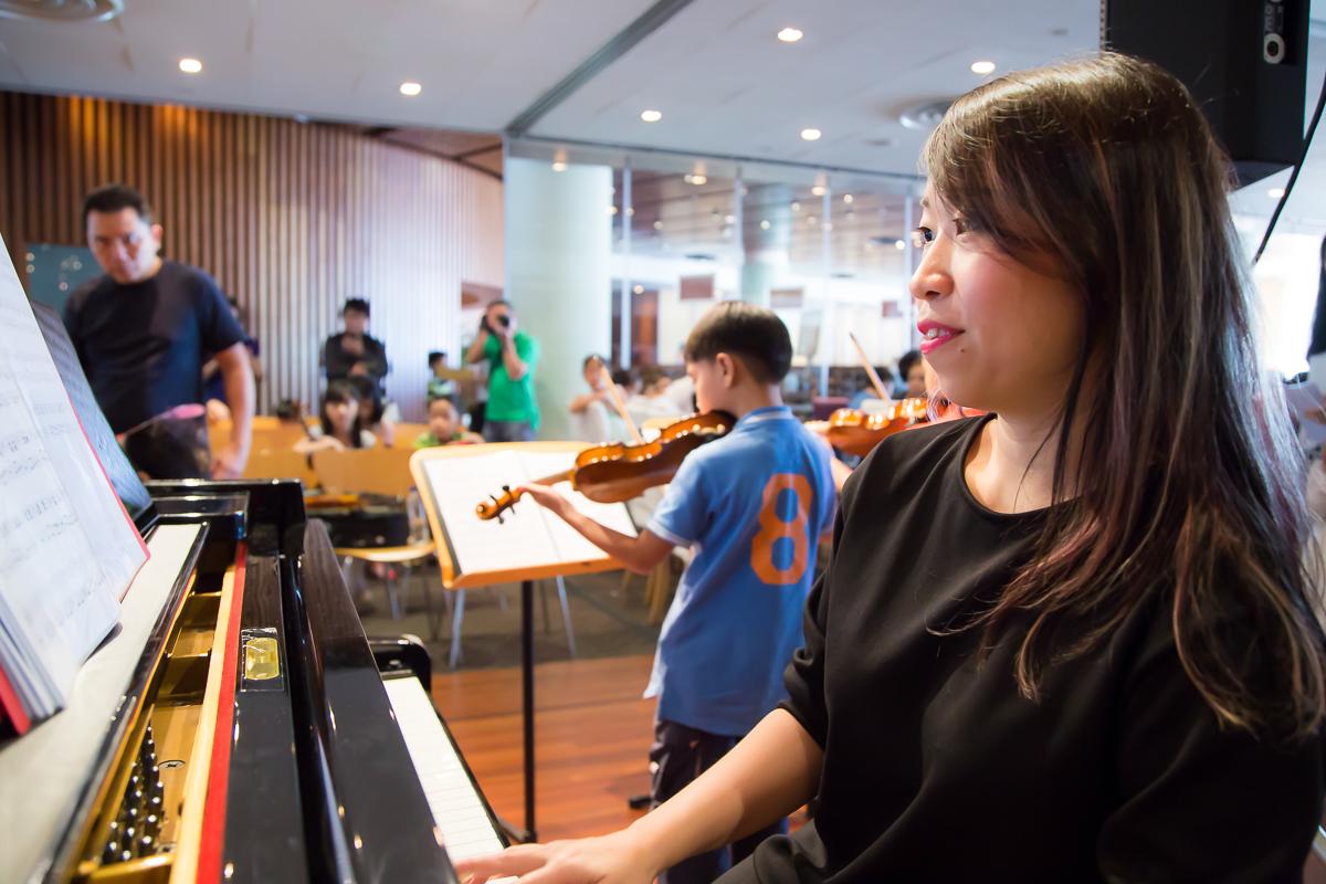 Serene and Violin students