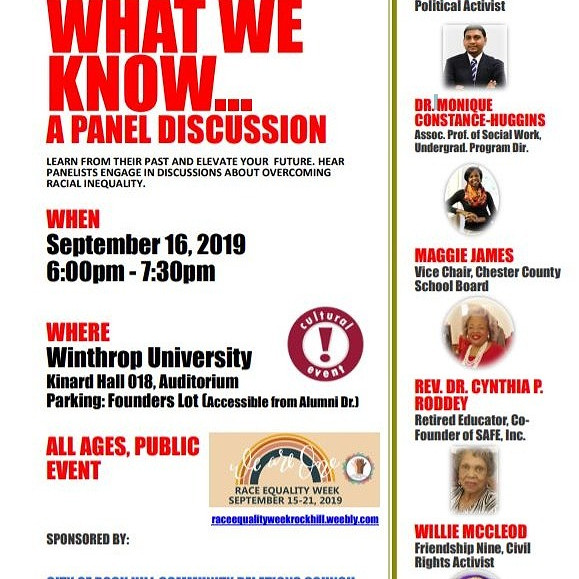 Panel Discussion on Race Inequality
