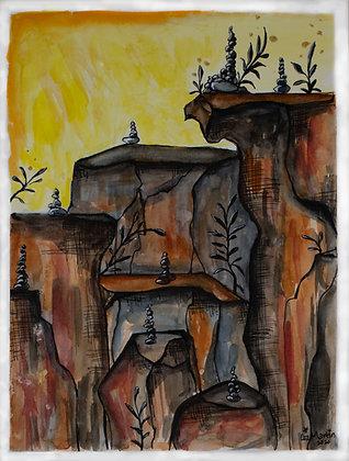 Canyon Rock Piles