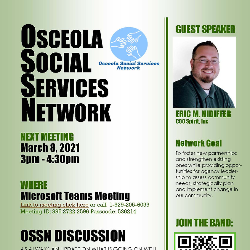 Osceola Social Services Network March 2021 Meeting