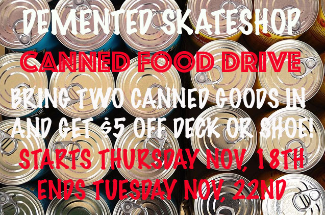 CANNED FOOD DRIVE!!!