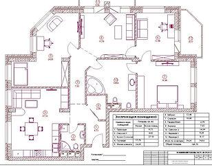 план расстановки мебели и экспликация квартиры