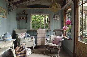 Стиль прованс в деревянном доме