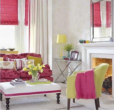 Декорирование текстилем, яркий декор