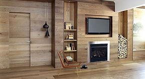 Деревянный дом внутри в стиле минимализм фото