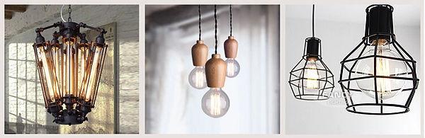 Ретро лампы. Лампы Эдисона. Светильники с лампами Эдисона.