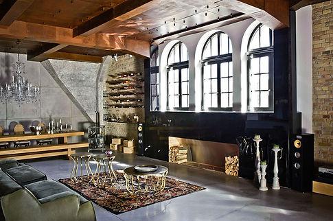 Декорирование стиля лофт, декорирование кирпичной стены
