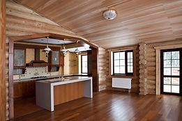 Отделка деревянного дома внутри разными породами дерева