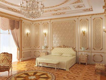 Декор +в стиле барокко фото, декор стен, декор потолка, декор спальни +в стиле барокко