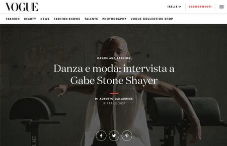 Gabe Stone Shayer x Vogue Italia