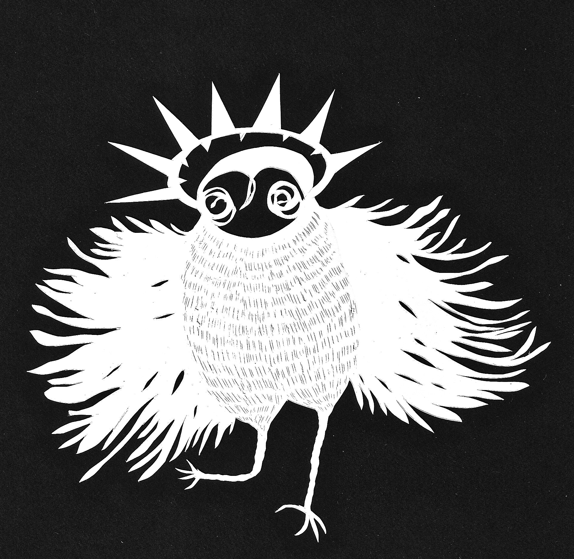 spirit owl - papercut