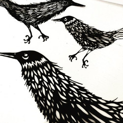 'Claude' detail cuts- there are 2 crows