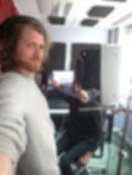 In the recording studio with composer Joseph Alexander