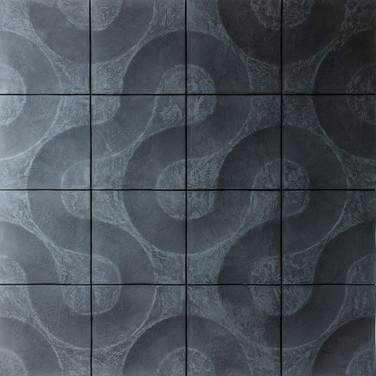 Гипсовое панно. Панель Аливия (Код 076)  Вариант монтажа без затирки швов. 4м.кв