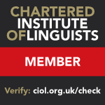 Chartered Institute of Linguists: time to renew my membership... but why?