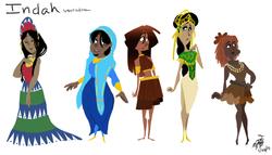 Indah Character Variation