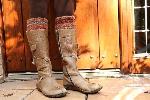 落ち葉色のブ-ツトッパ-ズ Russet Cable for long boots