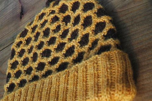 Rayon de Miel アルパカで温か亀甲模様の帽子