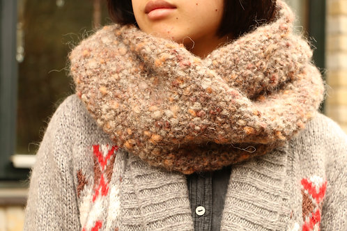 Brown Bubbling Snood