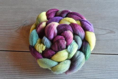手染め羊毛ロービング100g エクストラファインメリノ19.5マイクロン r1104