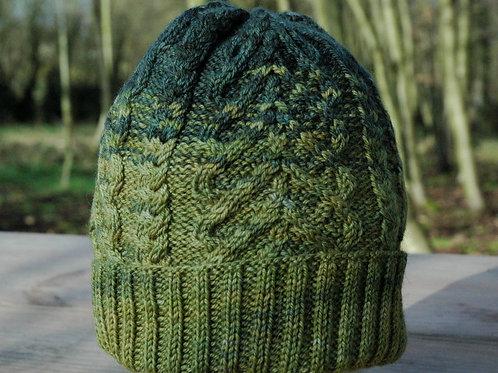 Coeur Vert 逆さハートのアラン模様の帽子 男女兼用