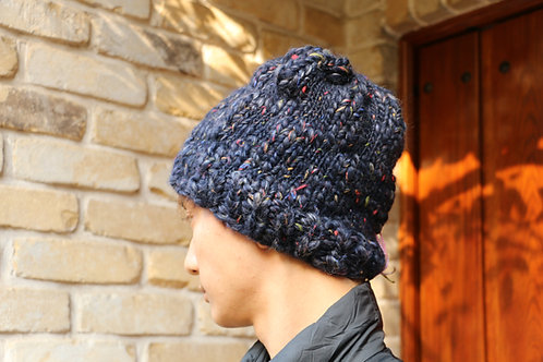 Bold Navy Yarn Hat