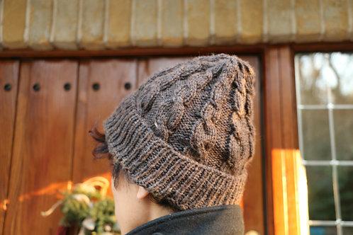 男女兼用 草木染めニット帽(Logwood)