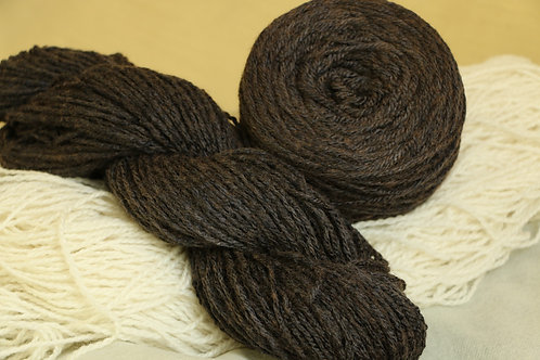 Hematine Merino Silk Fe-1 ヘマチンで染めたメリノシルクの毛糸 ブラック