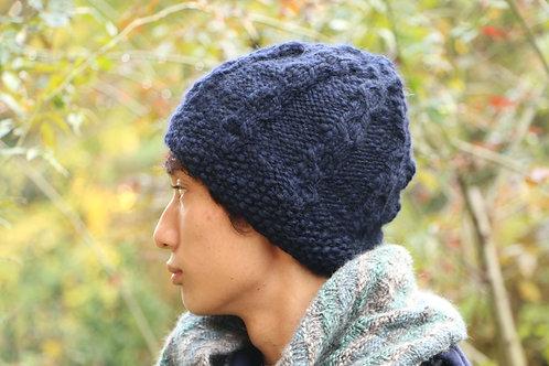 Gars メリノウール100%の男性用ニット帽
