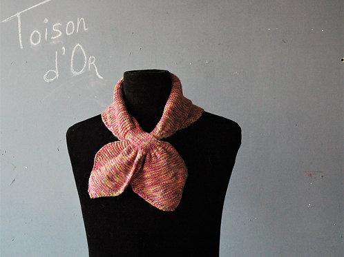 Papillon Rose カシミア+シルク+アルパカのふんわり柔らかネックウォーマー