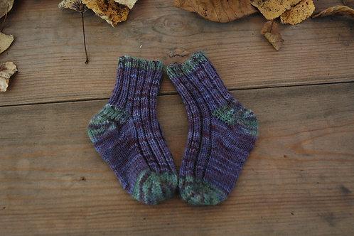 赤ちゃん用靴下 紫