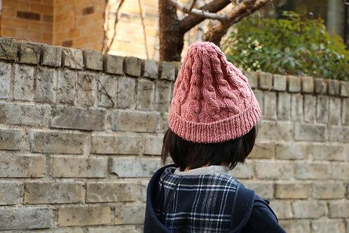 男女兼用草木染めのニット帽 Sappanwood(スオウ)