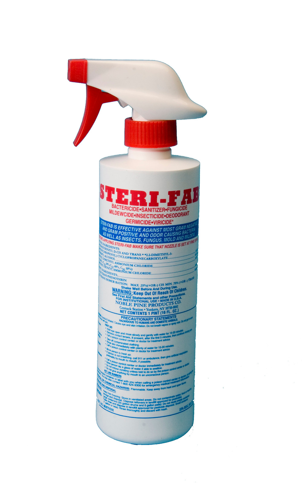 Sterifab spray bottle for home use