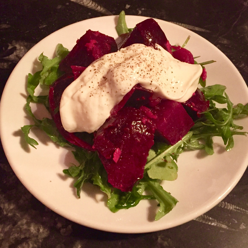 beets with creme fraiche remedy wine bar vermont
