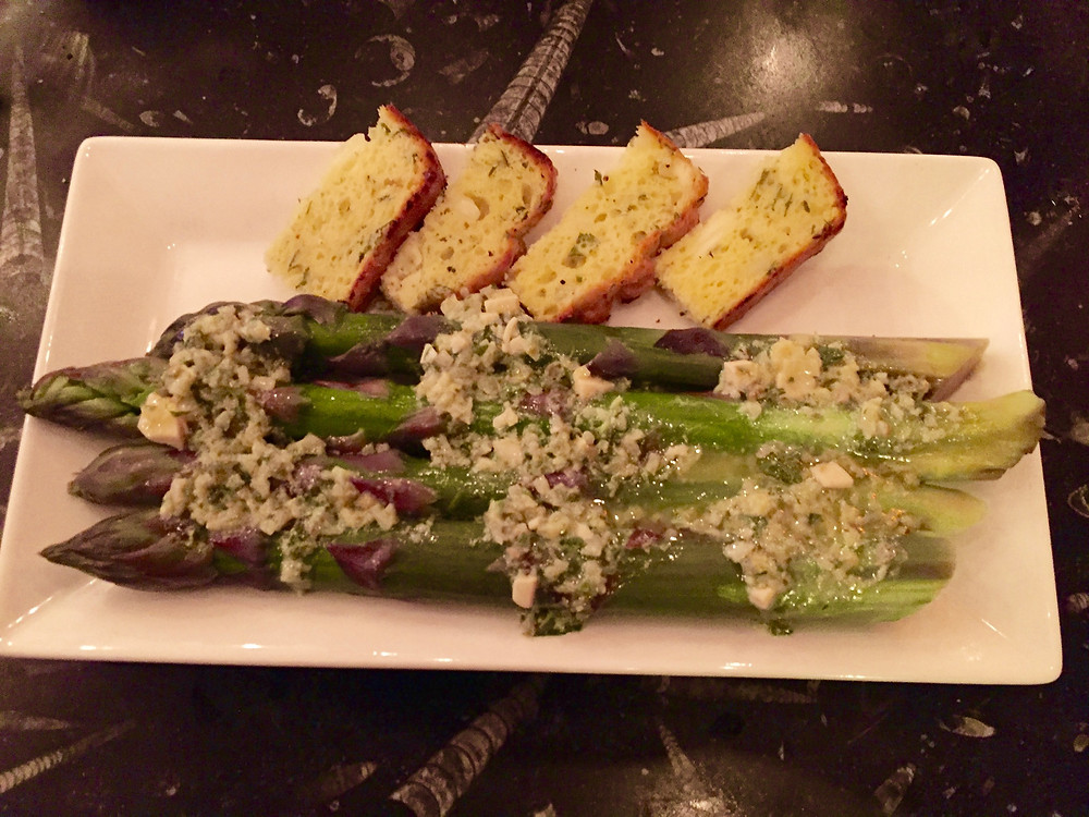 asparagus with Gribache sauce served at Remedy Wine Bar in Vermont
