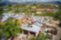 drone image of roofing job, arizona