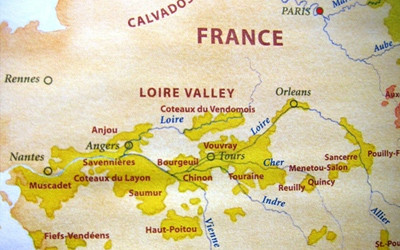 Map of Loire Valley France