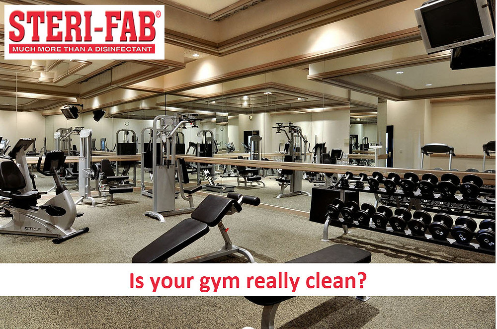 Sterifab disinfects and cleans gym