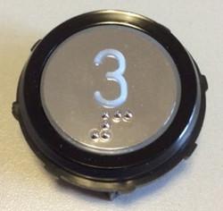 Corpo cromato anello nero circolare
