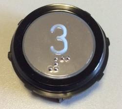 Corpo cromato anello circolare nero