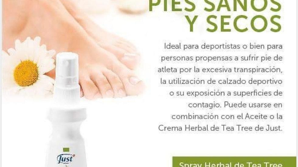 Spray herbal para pies - Tea Tree Manuca/ Rosalina