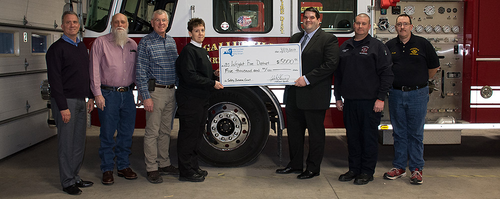 Wright FD receiving their 2017 Safety Initiative Grant