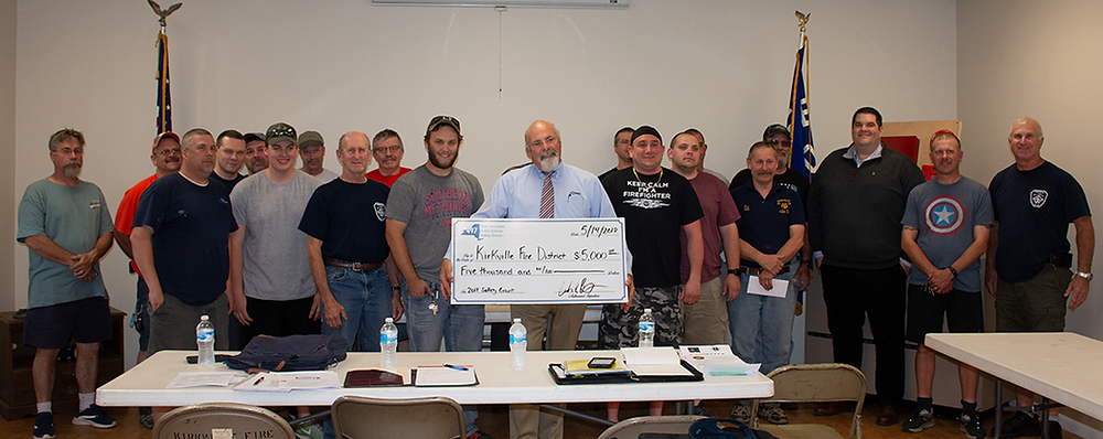 Kirkville FD receiving their 2018 Safety Initiative Grant