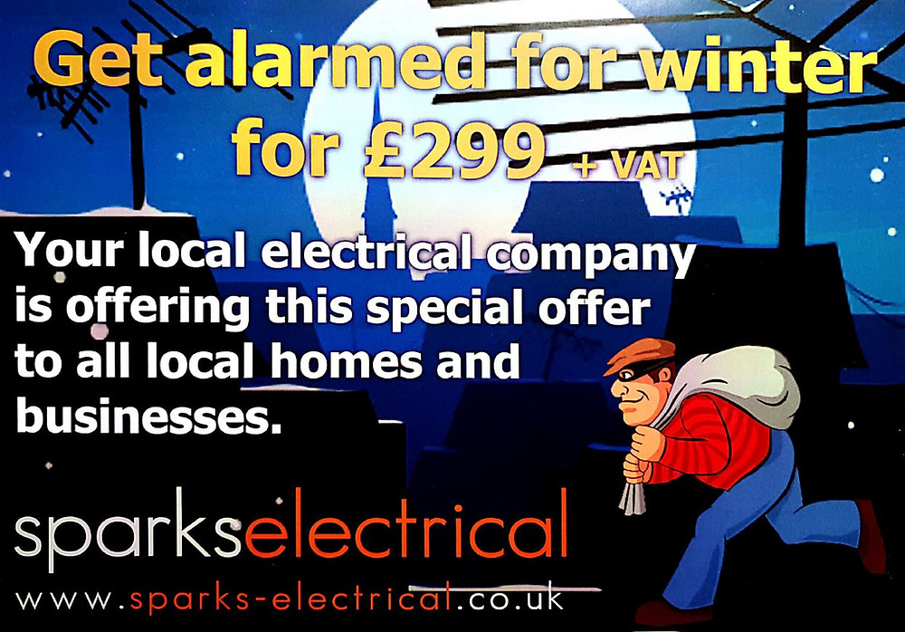 Burglar alarm installation offer by sparks electrical lincoln