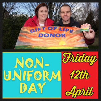 Non Uniform Day - Friday 12th April