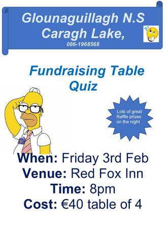 Table Quiz - Friday 3rd February
